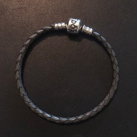 Pandora Jewelry - Pandora Gray Leather Bracelet